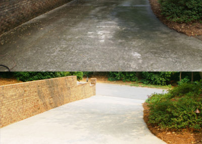 Before and after of a driveway in Greensboro, NC
