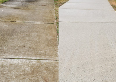 Before and after of a walkway in Greensboro, NC